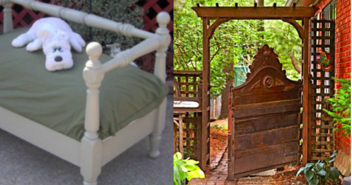 20 Amazing Ways To Repurpose Bed Frames